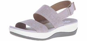 Clarks Women's Arla Jacory - Fashionable Sandal for Wide Feet