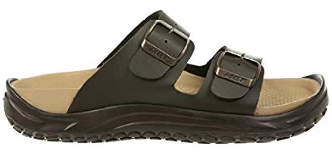 MBT Women's  - Leather Slide On Bunion Sandals