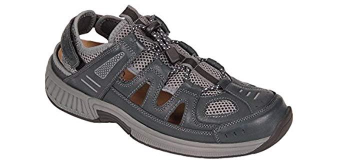 Orthofeet Women's Naples - Fisherman's Sandal for Bunions