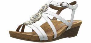 narrow orthotic sandals