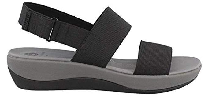 Clarks Women's Arla Jacory - Wide Width Wedge Sandal