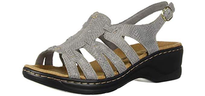 Clarks Women's Lexi - Wide Width Wedge Sandal