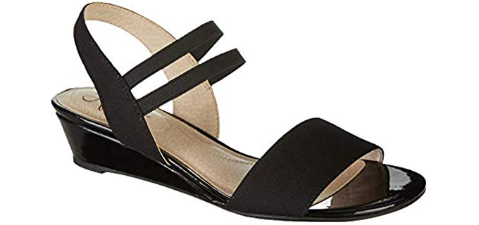 Lifestride Women's Yolo - Wide Width Low Wedge Sandal