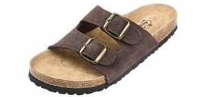 Northside Women's Mariani - Two Strap Sandals with a Cork Footbed
