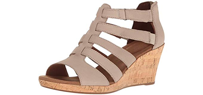 Rockport Women's Briah - Wide Width Wedge Dress Sandal