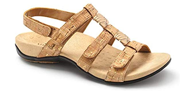 Vionic Women's Amber - Sandals for Bunions in Flat Feet