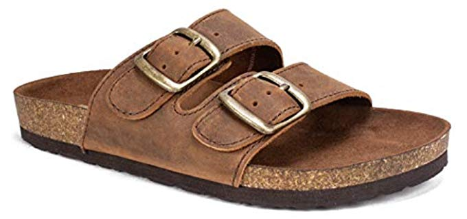 White Mountain Women's Helga - Basic Two Strap Cork Footbed Sandal