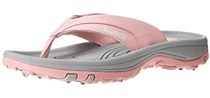 Zoriz Women's Golf - Removable Spike Golf Sandal