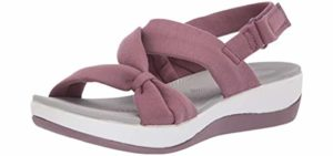 Clarks Women's Arla Primrose - Sandal for Long Distance Walking
