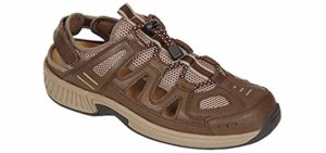 Orthofeet Women's Naples - Fisherman's Sandal for Long Distance Wlaking