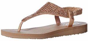 Skechers Women's Cali - Flip Flop Style Orthopedic Comfort Walking Sandals