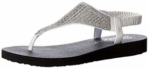 Skechers Women's Cali - Flip Flop Style Orthopedic Comfort Walking Sandals