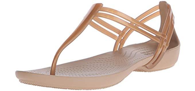 Crocs Women's Isabella T-Strap - Pregnancy Thong Sandals