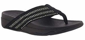FitFlop Women's Surfa Crystal - Sandals for the Beach