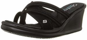 Skechers Women's Rumblers - Wedge Sandal for the Beach