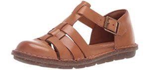 Clarks Women's Blake Moss - Fisherman's Leather Sandal for Diabetics