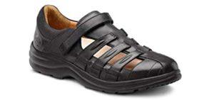 Dr. Comfort Women's Breeze - Fisherman's Sandal for Knee Pain