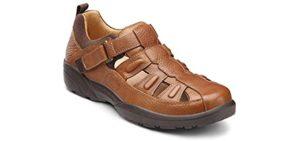 Dr. Comfort Men's Fisherman - Fisherman's Sandal for Knee Pain