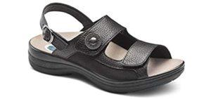 Dr. Comfort Women's Lana - Orthopaedic Sandal for Morton's Neuroma