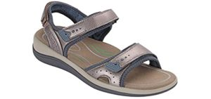 Orthofeet Women's Cambria - Sandal for Knee Pain