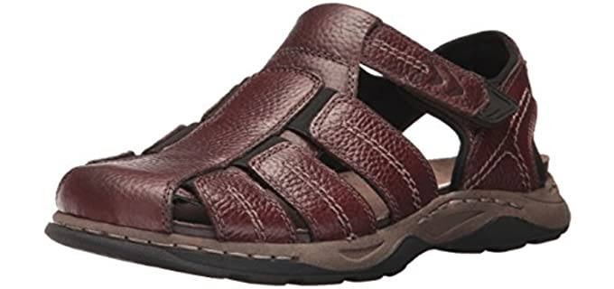 Dr. Scholl's Men's Hewitt - Fisherman's Closed Toe Sandals with an Ankle Strap