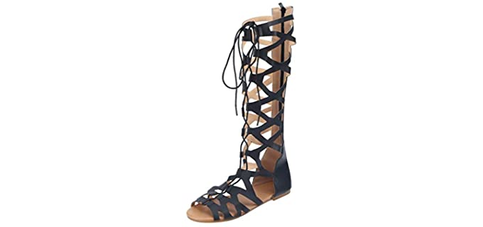 Hiriri Women's Lace Up - Long Gladiator Sandal