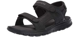 Skechers Men's Flex Advantage Upwell - Sports Sandal for Running