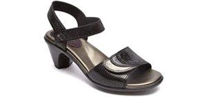 Aravon Women's Medici - Big Feet Dress Sandals