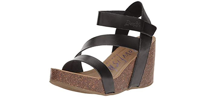 Blowfish Malibu Women's Hapuku - Wide Width Wedge Sandals