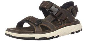 Clarks Men's Un Trek Bar - Casual Sandals for Big Feet