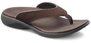 Dr. Comfort Men's Shannon - Hallux Rigidus Flip Flop Sandals