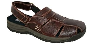 Drew Men's Barcelona - Sandals for Arthritic Feet