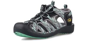 Grition Women's Protective Toe Cap - Sandals for Hiking