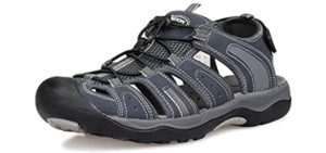 Grition Men's Fisherman - Lightweight Hiking Sandals