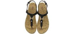 Women's Aleight Almond - Beach Flip Flops and Thong Sandal