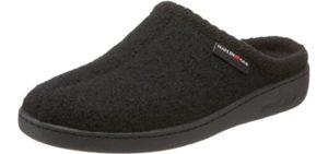 Halflinger Men's AT Wool - Slide On Slippers for Narrow Feet