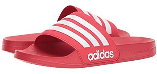 Red Adidas Slides Image