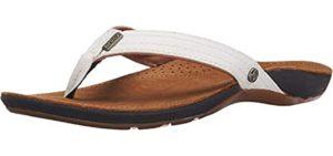 REEF Women's J-Bay - Leather Flip Flops