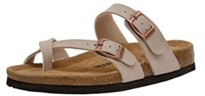 Cushionare Women's Luna - Cork Footbed Toe Loop Sandals