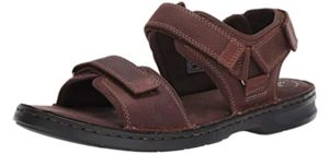 Clarks Men's Malone Shore - Sandals for Heel Spurs
