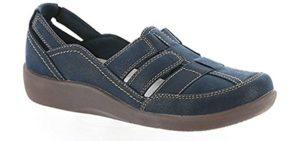 Clarks Women's Sillian Stork - Cracked Heel Support Sandals