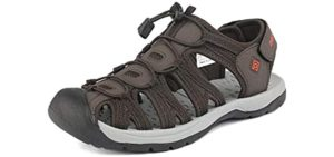 Dream Pairs Men's Adventurous - Cushioned Sandals for Heel Spurs