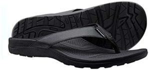 Everhealth Men's Orthotic - Orthopedic High Instep Flip Flop Sandals