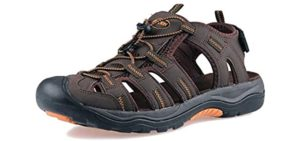 Grition Men's Closed toe - Hiking and Beach Sandals
