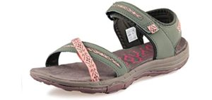 Grition Women's Summer Beach - Athletic Hiking and Walking Sandals