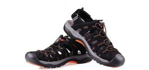 Grition Men's Summer Hiking - Comfy Hiking Sandals