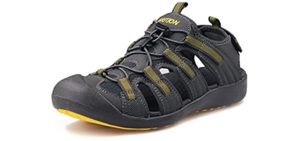 Grition Men's Topcap Athletic - Water Friendly Hiking sandals