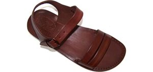 Holy Land Men's Samaria - Zero Drop Leather Sandal