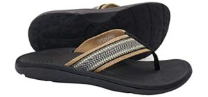 Irsoe Men's Casual - High Instep Support Flip Flop