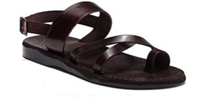 Jerusalem Sandals Men's Amos - Colorful Toe Loop Sandals